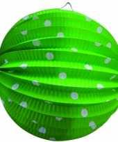 Lampion groen witte stippen 0 23 meter